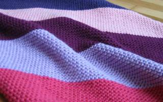 Платочная вязка спицами: схема и описание с фото