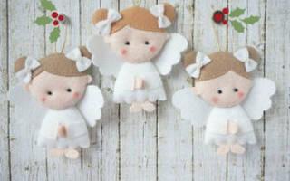 Ангел из фетра: выкройка на елку своими руками