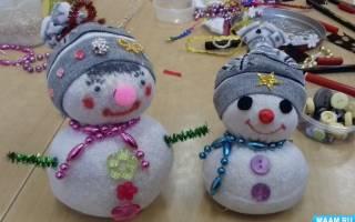 Снеговик из носка своими руками: пошаговая инструкция и мастер класс