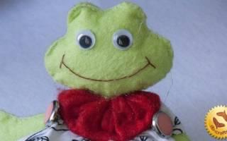 Лягушка из фетра: выкройка своими руками