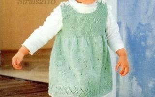 Детский сарафан спицами: варианты для начинающих рукодельниц