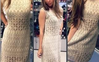 Ажурное платье спицами: делаем для девочки