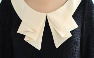 Как сшить воротник на платье: плюс варианты изготовления крючком