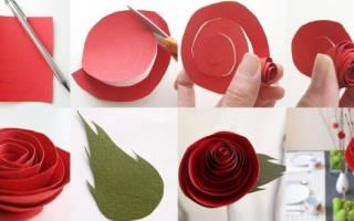 Как сделать розу из бумаги своими руками: мастер класс из гофрированной бумаги поэтапно и инструкция со схемой