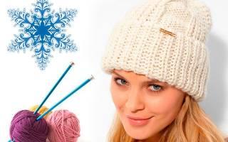 Женская вязаная шапка: варианты для начинающих рукодельниц