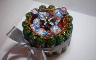 Композиции из конфет: мастер класс на день рождения, на свадьбу и к пасхе