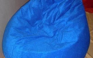 Кресло груша своими руками: расскажем сколько нужно ткани
