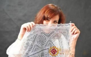 Вязание пуховых платков спицами со схемами, фото и видео