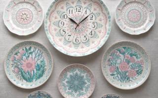 Декоративные тарелки своими руками: варианты в стиле прованс