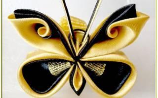 Бабочка из лент своими руками: вышивка и мастер класс с видео
