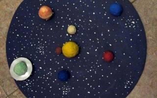 Макет солнечной системы своими руками: пошаговые мк с фото и видео-уроками