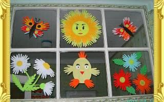 Аппликация из ладошек в детском саду: презентация с фото