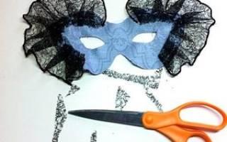 Карнавальная маска своими руками: мастер-классы с пошаговыми фото и видео-уроками
