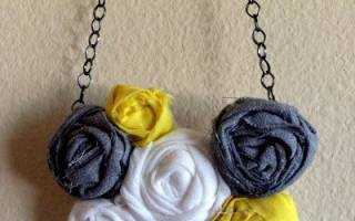 Ожерелье из ткани своими руками: делаем бусы, колье из джинсовой ткани