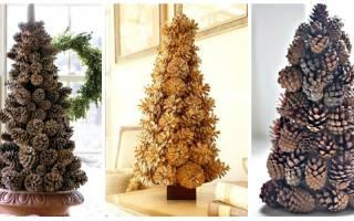 Как сделать елку из еловых шишек своими руками: делаем с фото и видео