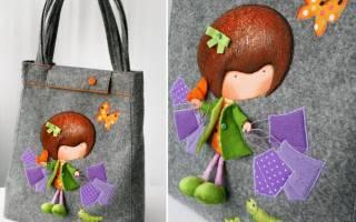 Маленькая сумочка своими руками: выкройка с ручкой и мастер класс