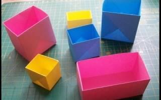 Оригами коробочка из бумаги своими руками: с крышкой и с сюрпризом