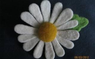 Мастер класс по сухому валянию цветов ромашки для начинающих с фото
