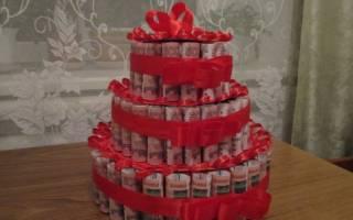 Денежный торт своими руками: мастер класс как можно сделать на свадьбу