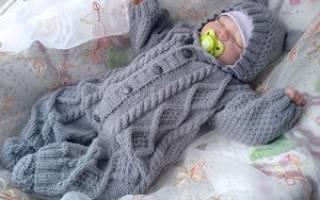 Детский вязаный костюм: делаем спицами