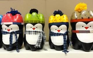Животные из пластиковых бутылок своими руками: мастер класс с фото