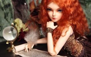 Шарнирная кукла своими руками: из полимерной глины и из холодного фарфора