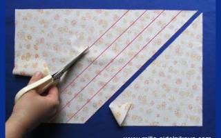 Как сделать косую бейку: мастер класс своими руками