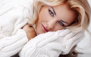 Свитер крупной вязки: женский вариант