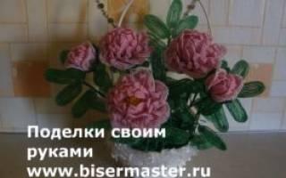 Пион из бисера: мастер класс и схемы плетения с фото