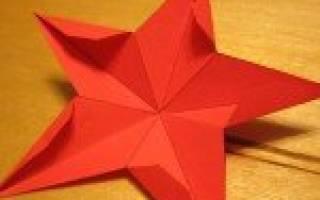 Звезда на елку: из атласной ленты, из бисера и из бумаги