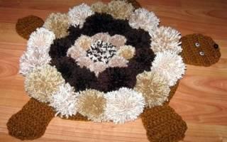 Коврик из помпонов своими руками: делаем коврик-овечку (мастер-класс)