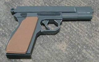 Пистолет из бумаги: инструкция как сделать своими руками