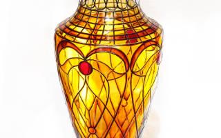 Витражная роспись по стеклу: трафареты и мастер класс вазы своими руками