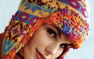 Вязаная шапка ушанка: фото, схемы, пошаговые мк и видео-подборка