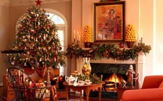 Новогоднее украшение дома: фото как можно сделать из бумаги и из лампочек