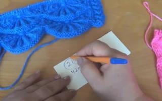 Алсацийские гребешки спицами: видео и схема изготовления