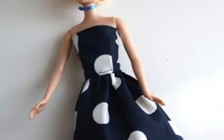 Платье для куклы своими руками: барби, братц и монстр хай