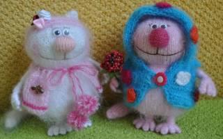Вязание игрушек спицами со схемами и описанием, мастер-класс с фото и видео