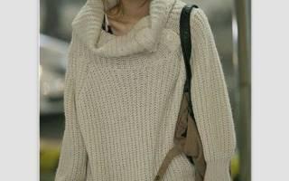 Белый свитер крупной вязки: вяжем спицами мужской и женский свитер