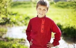 Косоворотка для мальчика: выкройка быстро с фото