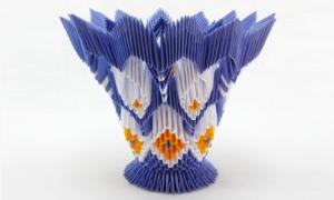 Модульное оригами: ваза для начинающих, схемы сборки и видео-подборка
