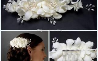 Свадебное украшение своими руками на голову: мк с пошаговыми фото и видео
