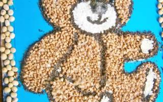 Аппликации из круп: делаем из макарон и семян по шаблонам