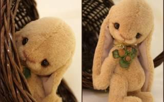 Выкройка зайца: как сшить игрушку с длинными ушами