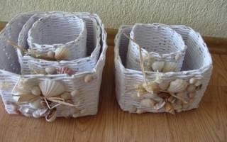 Плетение корзин из бумаги для начинающих: как сделать и плести расскажет наш мастер класс