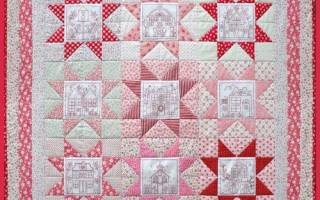 Лоскутная мозаика: мельница на ткани и разные техники выполнения