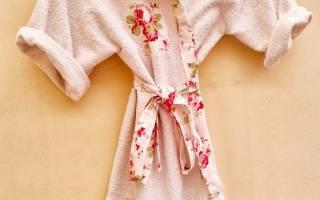 Детский махровый халат с капюшоном: выкройка в статье