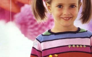 Свитер для девочки спицами: реглан своими руками и инструкция как связать теплый свитер