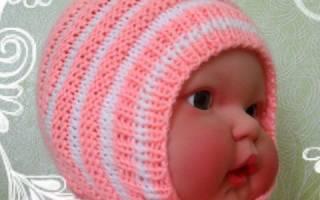 Вязаная шапочка для новорождённого спицами своими руками с помощью спиц или крючка