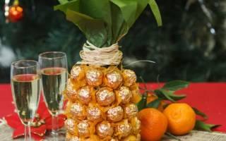Бутылка шампанского, украшенная конфетами: мастер класс лентами на свадьбу